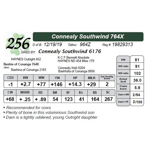 Connealy Southwind 764X