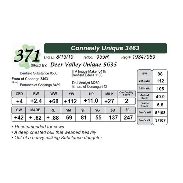 Connealy Unique 3463