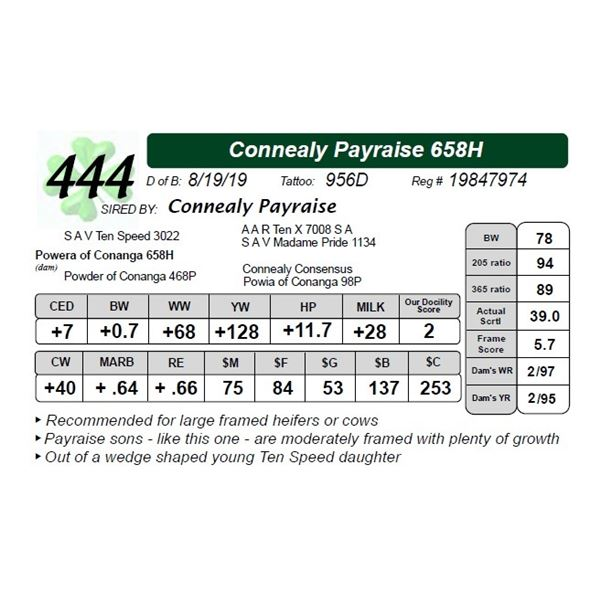 Connealy Payraise 658H