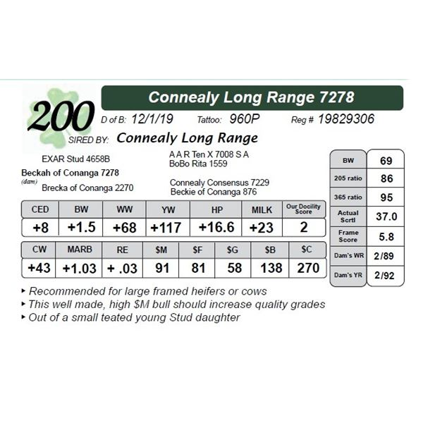 Connealy Long Range 7278