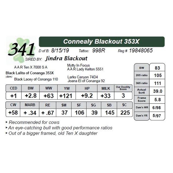 Connealy Blackout 353X