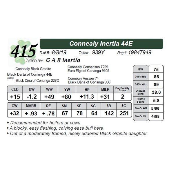 Connealy Inertia 44E