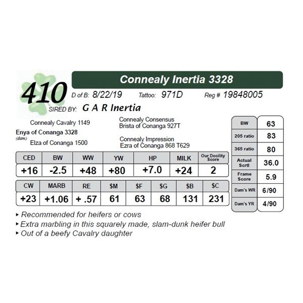 Connealy Inertia 3328