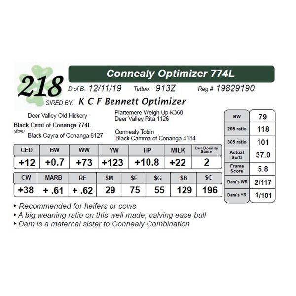 Connealy Optimizer 774L
