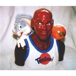 Michael Jordon Bugs Bunny Basketball Cookie Jar#1456995
