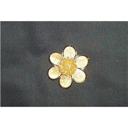 Jewelry-Mesh Flower Brooch #1457010