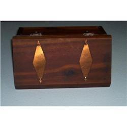 Casket-Minature-Copper And Wooden #1457011