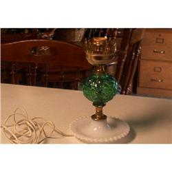 Lamp-Green Beaded & Diamond  Design Oil #1457015