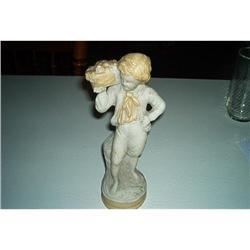 Alabaster Victorian Boy Figurine #1457016