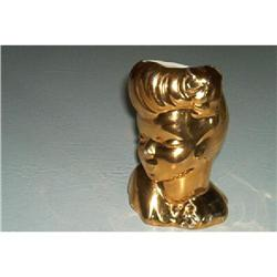 Head Vase-Gold Plated #1457024
