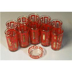 11-Piece Set Of Glasses/Matching Ashtray #1457027