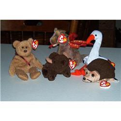 Five Retired Beanie Babies #1457036