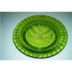 """EAGLE""-Seven Star Green Ashtray #1457037"