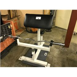 PREACHER CURL BENCH COMES WITH BAR