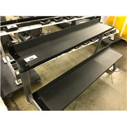 BLACK 2 TIER DUMBBELL STAND