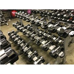 LOT OF CHROME DUMBBELLS (5LBS-15LBS)