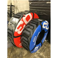 2 ESCAPE FITNESS TYRE TRAINERS