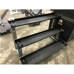 BLACK AND GREY 3 TIER DUMBBELL STAND