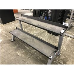BLACK AND GREY 2 TIER DUMBBELL STAND