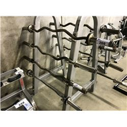 4 STAINLESS STEEL CURLING BARS DOES NOT INCLUDE RACK