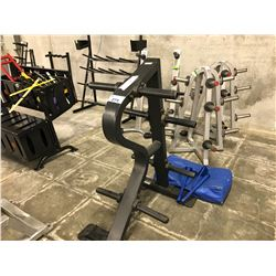 BLACK 6 POSITION FLAT WEIGHT STAND