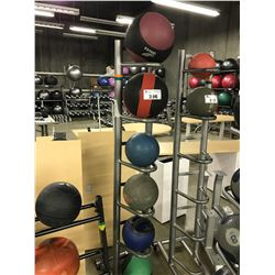 GREY 2 SIDED MEDICINE BALL RACK COMES WITH MEDICINE BALLS