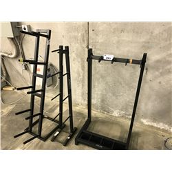 3 BLACK FITNESS RACKS