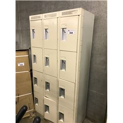 12 COMPARTMENT BEIGE GYM LOCKER