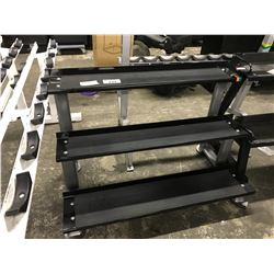 BLACK 3 TIER WEIGHT RACK
