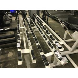 WHITE 10 POSITION WEIGHT RACK