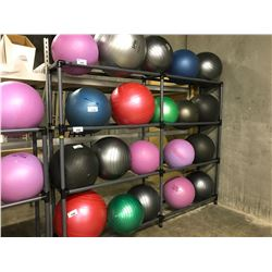 GREY 6 COMPARTMENT YOGA BALL RACK