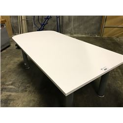 GREY 8' X 3' BOARDROOM TABLE
