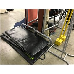 LOT OF FITNESS MATS AND STANDS