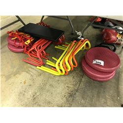 LOT OF CIRCUIT EQUIPMENT INCLUDING BALANCE DISCS AND MORE
