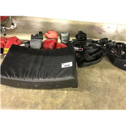 LOT OF BOXING GLOVES AND MISC.