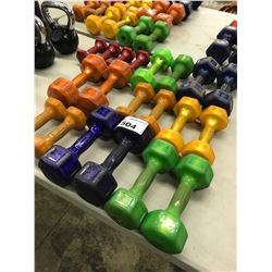 LOT OF HAMPTON BARBELLS AND WEIGHTS