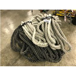 LOT OF BRAIDED ROPE