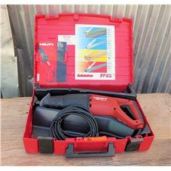 Hilti Electric Reciprocating Saw WSR 1250-PE in Hard Case
