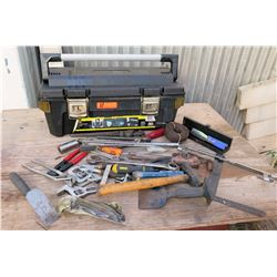 Tool Case & Misc Hand Tools: Wrenches, Clamps, Pliers, Saw, Hammer, etc