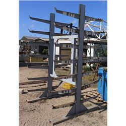 """Metal 7 Tier Double Sided Cantilever Pipe Rack 27""""Wx112""""H"""