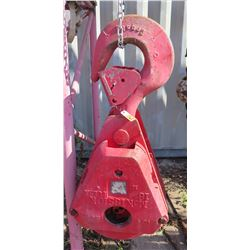 McKissick 16 Tulsa Industrial Block Crosby Single Hook Crane Attachment