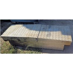 "Diamond Plate Double Side Truck Box 61""Lx21""Wx15""H"