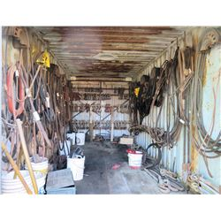 Contents of Container: Crane Blocks & Attachments, Cables, Shackles, Hooks, etc (not container)