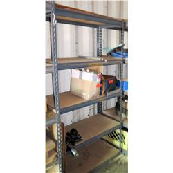 Shelving and Contents: Antifreeze, Filters, Ram, Wheels Hoses, etc