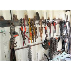 Multiple Chains, Binders, Blocks, Hooks, Clamps, Cable, etc