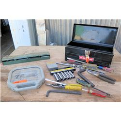 Craftsman Toolbox w/ Ratchet & Socket Set, Misc Sockets & Extensions, Wrenches