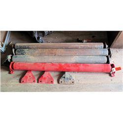 "Qty 4 Metal Pneumatic Cylinders 38""L"
