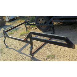 "Black Iron Mounting Truck Rack 124""Lx61""W"