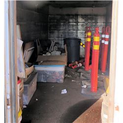 Contents of Container: Safety Delineators, Chairs, Joint Compound, Books, etc