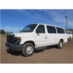 2009 Ford E350 Super Duty Extended Passenger Van V8 5.4L, 25,469 Miles, Lic. RBA635 (Starts & Runs,